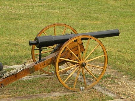 Cannon, Civil War, Reenactment, Military, Historic