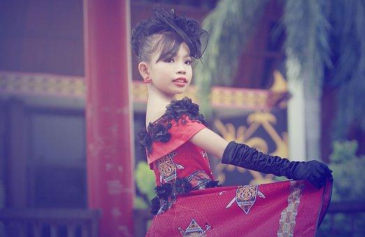 Child, Model, Little Girl, Color Effect, Hat, Gloves