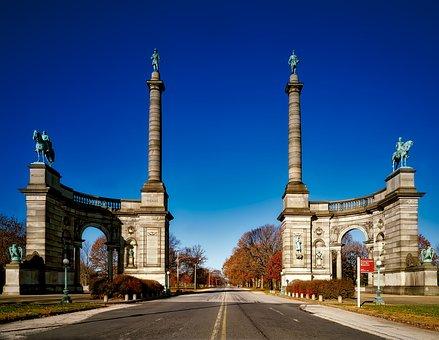 Civil War Memorial, Monuments, Statues, Fairmont Park