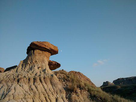 Hoodoo, Badlands, Moon, West, Rocks, Drumheller