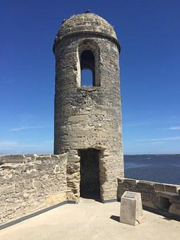St Augustine, Fort, History, Museum, Cannon, Tower