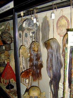 Shrunken Heads, Natives, Tribal, Scary, Display