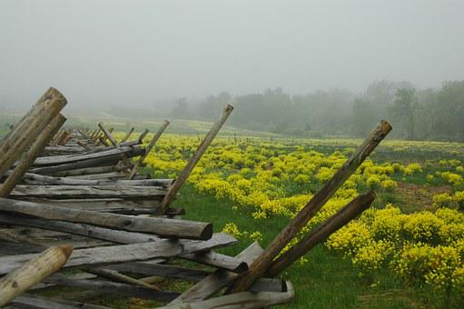 Gettysburg, Nature, History, Fence, Battle