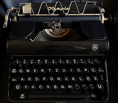 Typewriter, Antiquarian, Old, Nostalgia, Antique