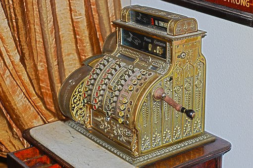 Cash Register, Box Register, Old, Antiques, Collector