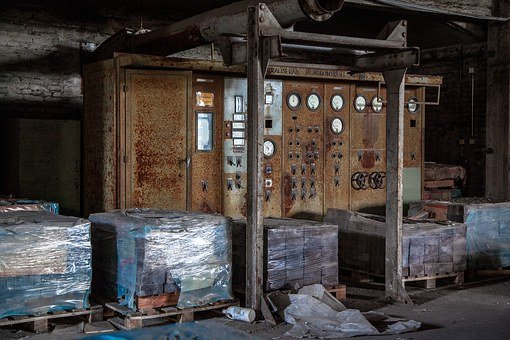 Factory Meters, Abandoned, Forgotten, Industrial, Old