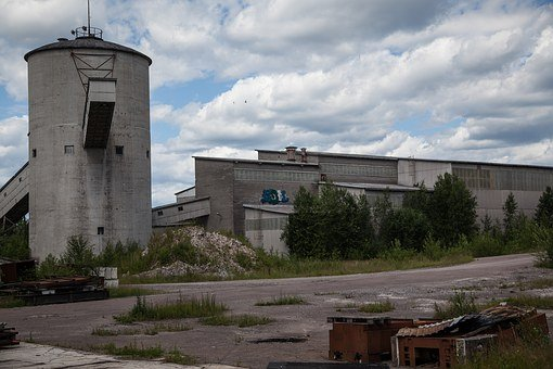 Abandoned Factory, Outdoors, Abandoned, Building