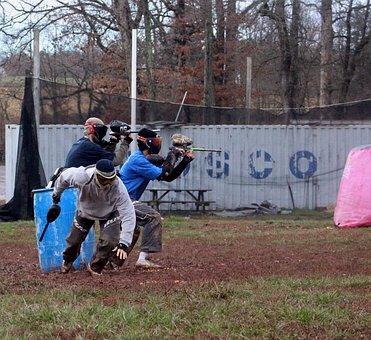Paintball, Sports, Gun, Team, Practice, Game, Shooting