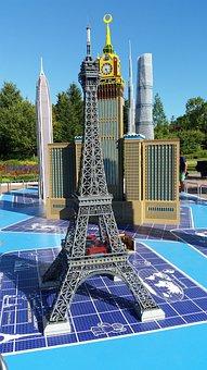 Eiffel Tower, Legoland, Paris, Amusement Park