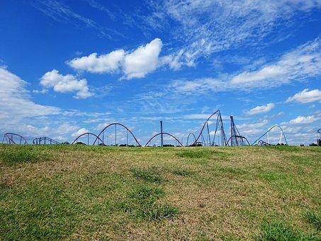 Roller Coaster, Amusement, Park, Rides, Carowinds