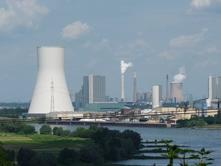 Power Plant, Industry, Smoke, Exhaust Gases, Pollution