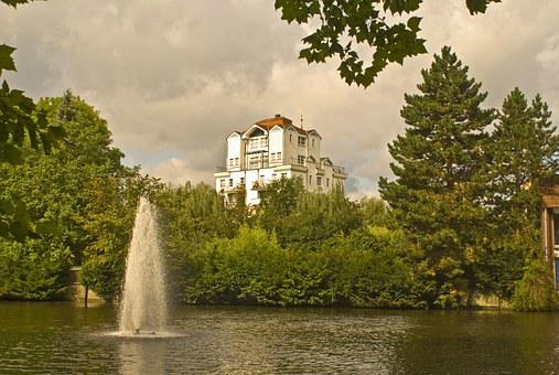 Mill Tower, Uelzen, Council Pond, Pond, Fountain