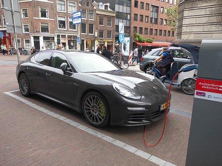 Electric Car, Porsche, Save Energy, Power Supply