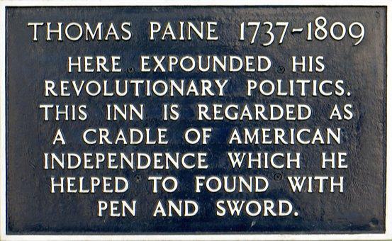 Thomas, Paine, Lewis, Pub, Historic, American, Famous