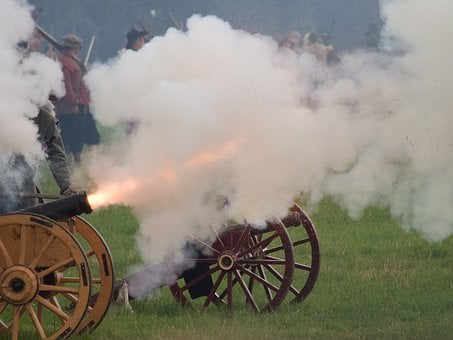 English Civil War, Reenactment, History, Cannon, Battle