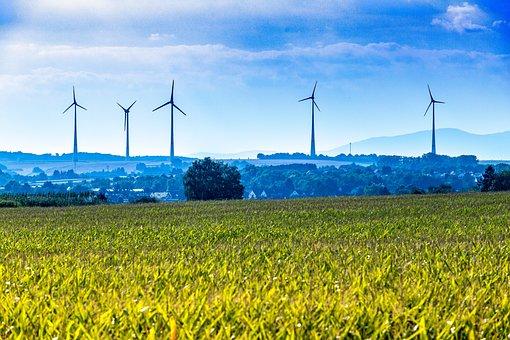 Wind Energy, Rhine-main, Windräder, Field, Sky