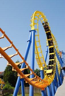 Roller Coaster, Ride, People, Fun, Amusement, Coaster