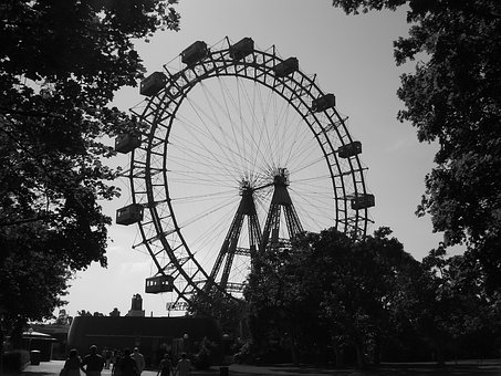 Riesenrad, Vienna, Funfair, Amusement Parks, Romantic