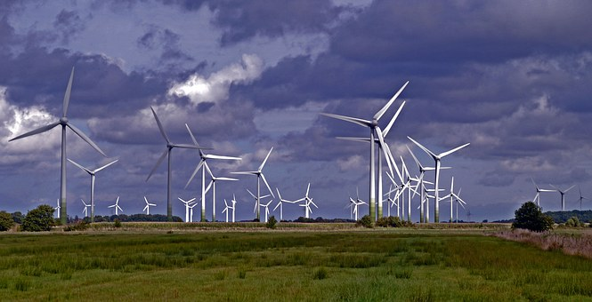 Wind Park, Wind Power Plants, Windräder, Rotor