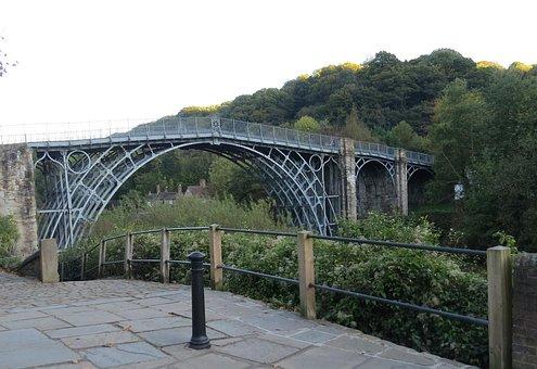 Ironbridge, Shropshire, England, Bridge, River, Iron