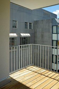 Balcony, View, Skyscraper, Multi Storey Car Park