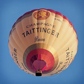 Balloon, Hot, Air, Tattinger, Champagne, Reims