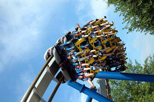 Roller Coaster, People, Thrill, Amusement, Park