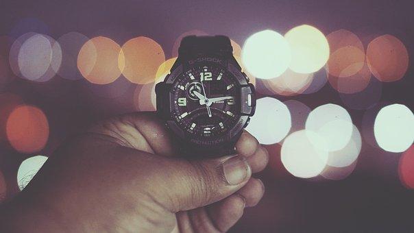 Watch, Time, Night, Light, Clock, Hour, Deadline