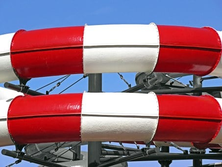 Hydroslides, Tubes, Pipes, Painted, Water Slides