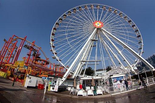 Prater, Vienna, Ferris Wheel, Fisheye Lens