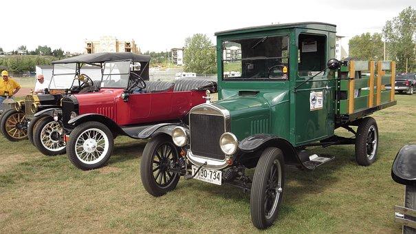 Model T, Ford, Truck, Vintage, Show, Antique, Restored