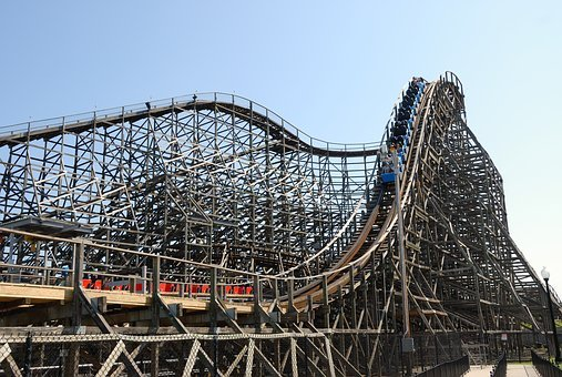 Wooden Roller Coaster, Ride, Vintage, Amusement