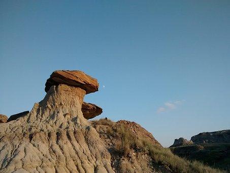Hoodoo, Badlands, Moon, West, Rocks, Drumheller
