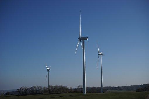 Wind Turbine, Wind Power Park, Wind Park, Rotor, Wka
