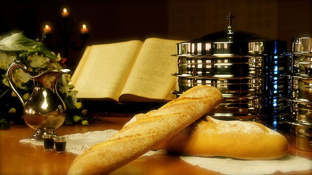 Bread, Wine, Church, Communion, Last Supper, Food