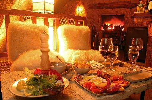 Bariloche, Restaurant, La Cueva, Dinner