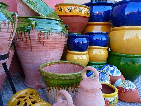 Ceramic, Pots, Vessels, Colorful, Fragile, Color