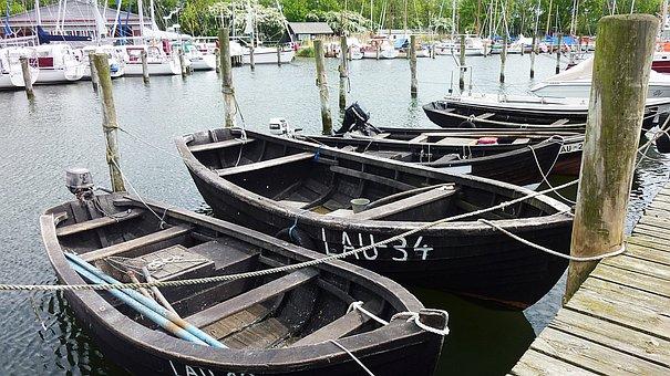 Rügen, Place Lauterbach, Port, Fishing Boats