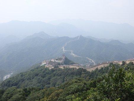 The Great Wall, Mountains, Badaling, Beijing