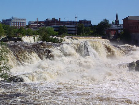 Lewiston, Maine, Water, Scenery, Nature, Outside