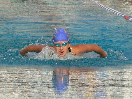 Sport, Swimming, Butterfly, Water