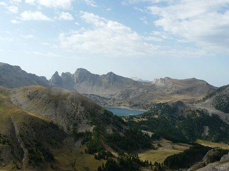 Allos Lake, Mountain, Hiking, Landscape, Nature, Market