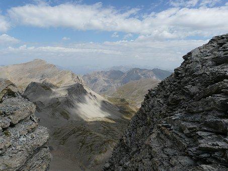 Mont Pelat, Allos Lake, Alps, Mercantour, Mountain