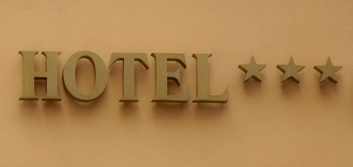 Hotel, Sign, Travel, Vacation, Tourism, Stars, Three