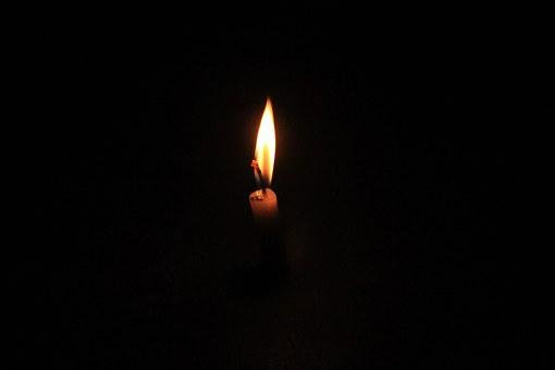 Candlelight, Shadow, Black Background, Night, Yellow