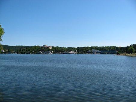 Summer, Lake, Brno, Prigl, Water, Blue Sky, Harbour