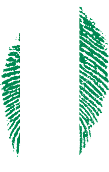 Nigeria, Flag, Fingerprint, Country, Pride, Identity