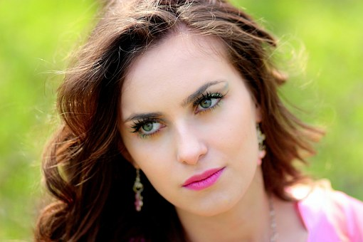 Girl, Portrait, Green Eyes, Beauty, Seductive
