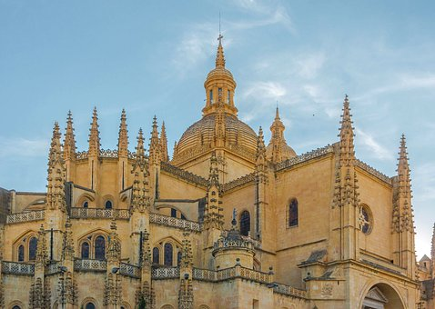 Segovia, Spain, Cathedral, Church, Buildings, Structure