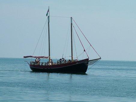 Balchik, Boat, Vessel, Bulgaria, Sea, Black Sea